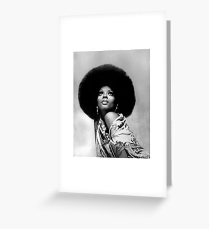 DIANA ROSS BW PHOTO Greeting Card