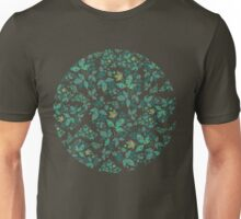 Green Flowers & Paisley Leaves Unisex T-Shirt