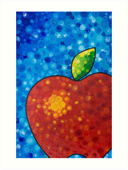 Red Apple by Sharon Cummings