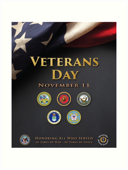Quot Veterans Day Armed Forces Poster Quot Art Prints By