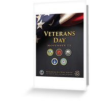 Veterans Day Armed Forces Poster Greeting Card