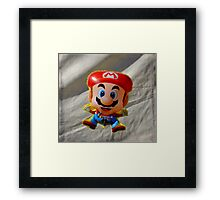 The worst place to tie something. Framed Print