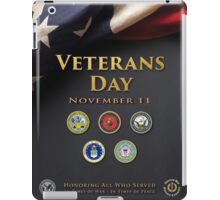Veterans Day Armed Forces Poster iPad Case/Skin