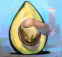 Avocado  | Vinyl paints on canvas by Filip Mihail