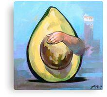 Avocado  | Vinyl paints on canvas Canvas Print