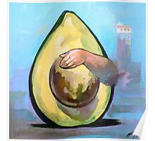 Avocado  | Vinyl paints on canvas Poster