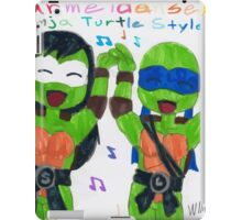 ninja turles dance style iPad Case/Skin