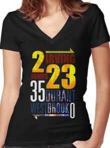 OKC Thunder - CLEVELAND Cavaliers Women's Fitted V-Neck T-Shirt