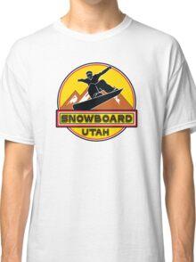 SNOWBOARD UTAH Skiing Ski Mountain Mountains Snowboarding PARK CITY ALTA Classic T-Shirt