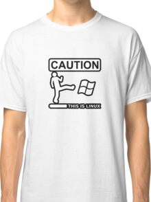 caution this is sparta linux Classic T-Shirt