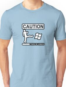 caution this is sparta linux Unisex T-Shirt