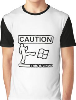 caution this is sparta linux Graphic T-Shirt