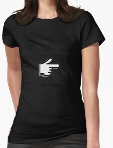 Drink and Pay Womens Fitted T-Shirt