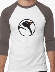 linux penguin circle logo Men's Baseball ¾ T-Shirt