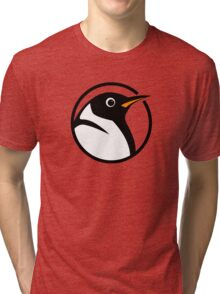linux penguin circle logo Tri-blend T-Shirt