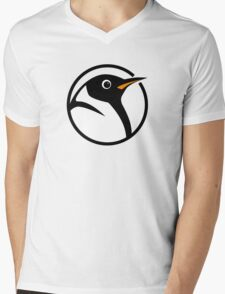 linux penguin circle logo Mens V-Neck T-Shirt