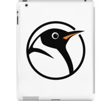 linux penguin circle logo iPad Case/Skin