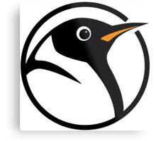 linux penguin circle logo Metal Print