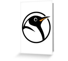 linux penguin circle logo Greeting Card