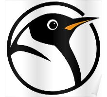linux penguin circle logo Poster