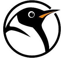 linux penguin circle logo Photographic Print