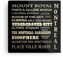 Montreal Quebec Famous Landmarks Metal Print