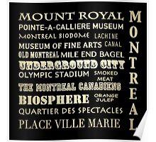 Montreal Quebec Famous Landmarks Poster