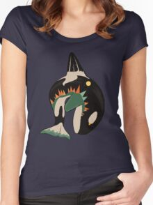 World on the Whale's Back Women's Fitted Scoop T-Shirt