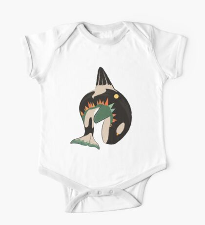 World on the Whale's Back One Piece - Short Sleeve