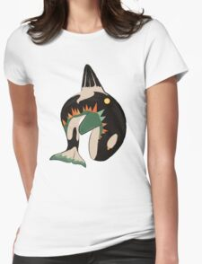 World on the Whale's Back Womens Fitted T-Shirt