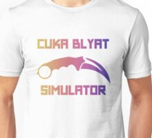 Cyka Blyat Simulator - fade Unisex T-Shirt