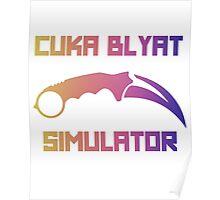 Cyka Blyat Simulator - fade Poster