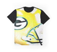 Green Bay Packers Helmet - Watercolor Graphic T-Shirt