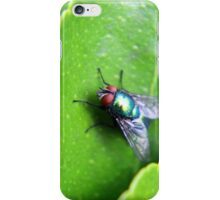 Eye of a Fly on a Leaf iPhone Case/Skin