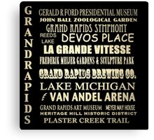 Grand Rapids Michigan Famous Landmarks Canvas Print