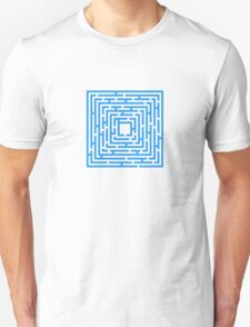 Abstract vector background with a maze. Unisex T-Shirt