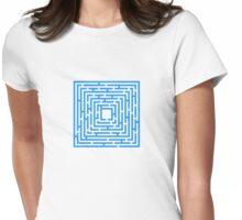 Abstract vector background with a maze. Womens Fitted T-Shirt