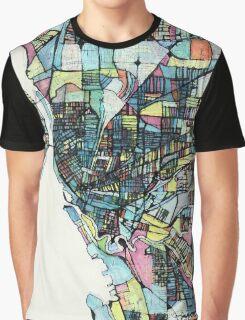 Abstract Map of Buffalo NY Graphic T-Shirt