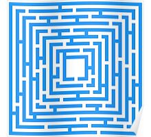Abstract vector background with a maze. Poster