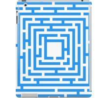 Abstract vector background with a maze. iPad Case/Skin