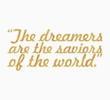 "The dreamers... ""James Allen"" Inspirational Quote Kids Tee"