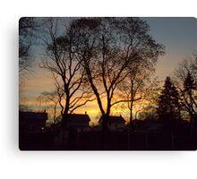 New Jersey Sunset Canvas Print