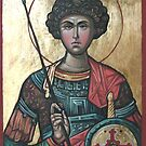 Saint George - Eastern Orthodox Icon by painterflipper