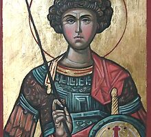 Saint George - Eastern Orthodox Icon by Filip Mihail