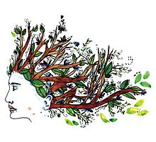 the man who have a tree in his mind Photographic Print