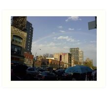 New York Rainbow Art Print