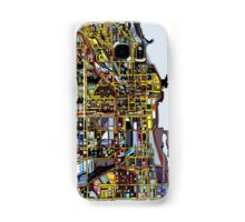 Abstract Map of Chicago IL Samsung Galaxy Case/Skin