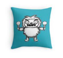 Yeti a la Mode Throw Pillow