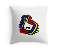 Claustrophobic Microbe Throw Pillow