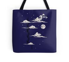 He lives on a cloud in the sky Tote Bag
